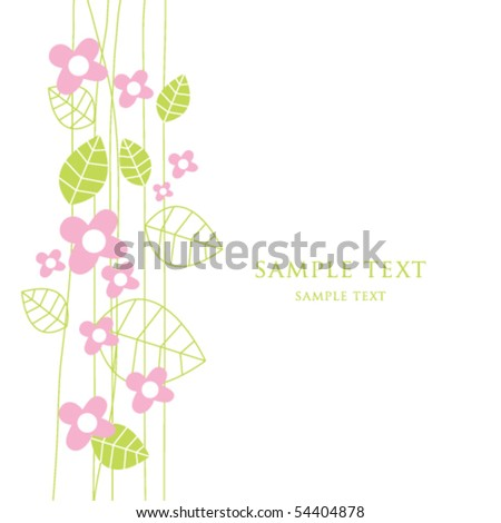 Cute Birthday Greeting Card Copy Space Stock Vector Royalty Free
