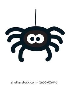 cute black spider icon. vector illustration