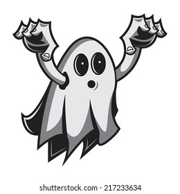 Cute blanket ghost for halloween characters