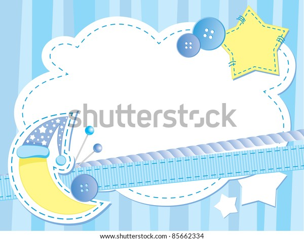 cute blue background with moon and stars