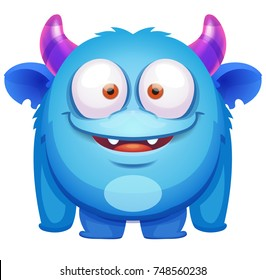 Cute Blue Monster