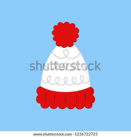 cff16c489cf85 Cute Bobble Hat Vector Illustration Icon Stock Vector (Royalty Free ...