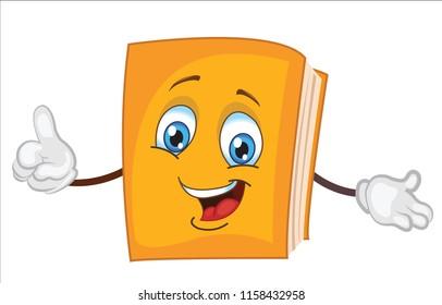 cute book character cartoon