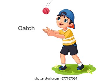 catch ball images  stock photos   vectors shutterstock Boy Playing Ball Clip Art Boy and Dog Playing Clip Art