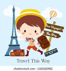 Cute Boy Traveler