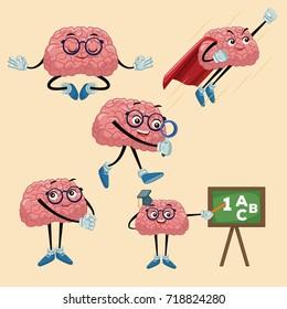 Cute brains cartoons