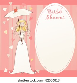 Cute Bridal Shower Invitation - Showered with Love