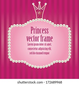 5e8802d6c045 ... wedding invitations. vector illustration. cute bright pink purple  striped background for little princess