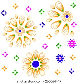 Cute and bright seamless pattern