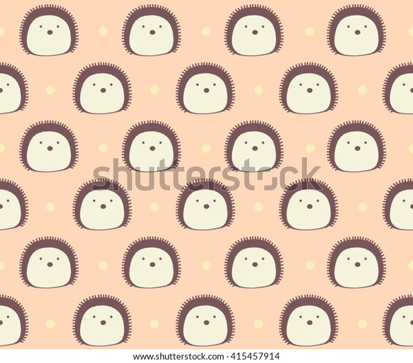 Cute Brown Hedgehog Dot On Sweet Stock Vector Royalty Free