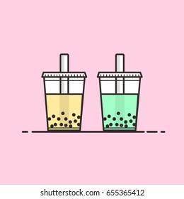 Cute Bubble Tea Vectors