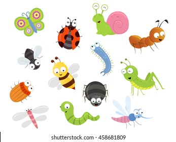 Cute Bug Character Collection