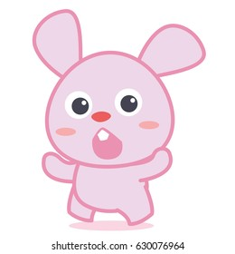 Cute bunny cartoon collection style