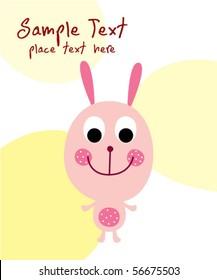cute bunny greeting