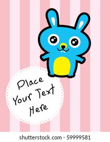 cute bunny message