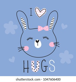 cute bunny rabbit animal vector illustration