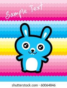 cute bunny rabbit card