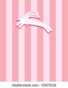 cute bunny tag
