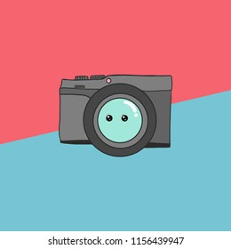 Cute camera, can used for design, vector.