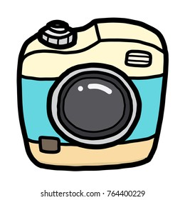 cute camera / cartoon vector and illustration, hand drawn style, isolated on white background.