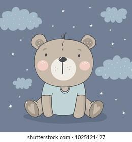 Cute card with bear.