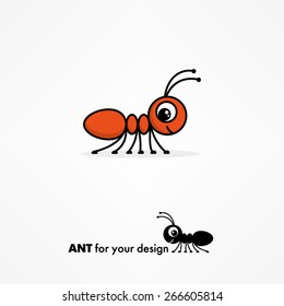Cute cartoon ant