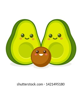 Kawaii Avocado Images Stock Photos Vectors Shutterstock