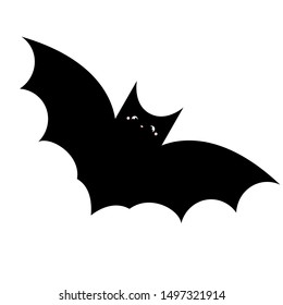 Cute cartoon bat. Vector illustration isolated on white background