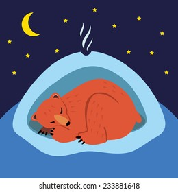 bear hibernating images stock photos vectors shutterstock. Black Bedroom Furniture Sets. Home Design Ideas