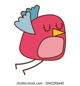 cute cartoon bird animal beauty