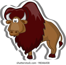 Cute cartoon bison