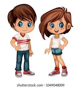 Fashion Boys Girls Cartoon Images Stock Photos Vectors Shutterstock