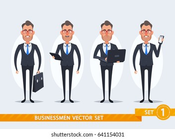 Cute Cartoon Businessmen - Set 1 of 2