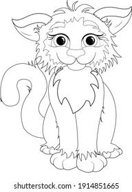 cute cartoon cat coloring book