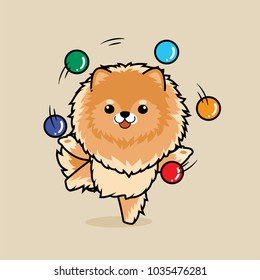 Pomeranian Playing Stock Illustrations Images Vectors Shutterstock