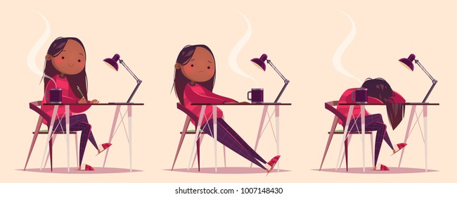 Tired Student Cartoon High Res Stock Images   Shutterstock