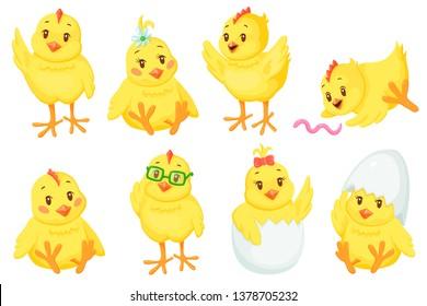 Cute cartoon chicken baby set