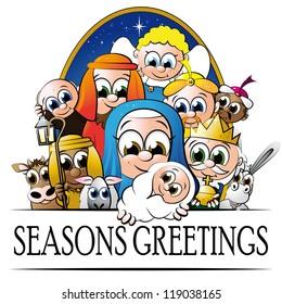 cute cartoon christmas characters