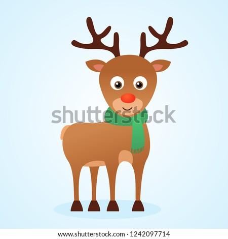 42fb5ee98458d Cute Cartoon Christmas Reindeer Rudolph Vector Stock Vector (Royalty ...