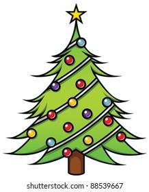 Cartoon Christmas Tree.Cartoon Christmas Tree Images Stock Photos Vectors