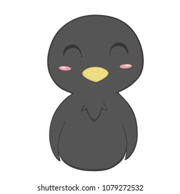 Cute Cartoon Crow Matching Animals Also Available Transparent Background In Vector File