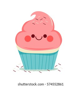cupcake cartoon images stock photos vectors shutterstock rh shutterstock com cupcake cartoon pictures cute cartoon cupcake pictures