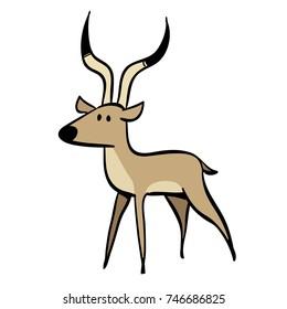 cute cartoon deer standing