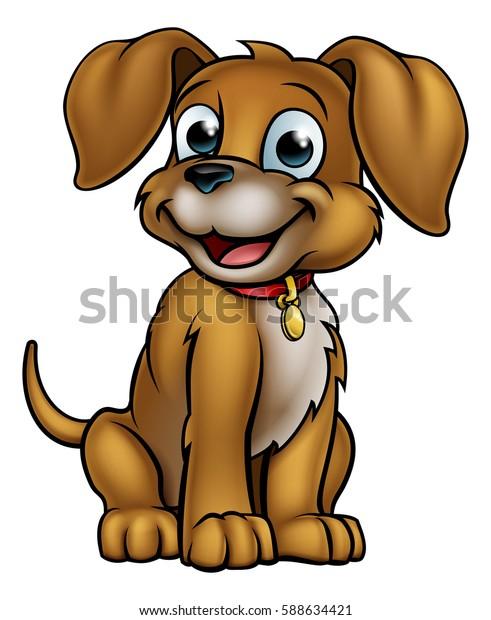 A cute cartoon dog mascot character