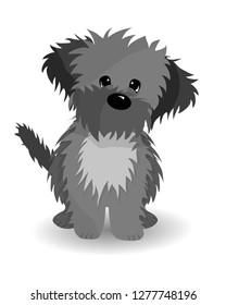 Cute cartoon dog puppy