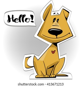 cute cartoon doggy