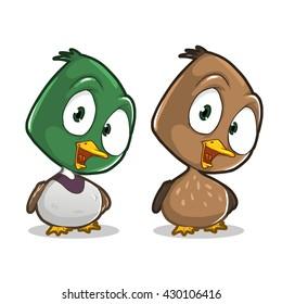 Cute cartoon duck character