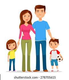 cartoon family images stock photos vectors shutterstock rh shutterstock com cartoon family pictures free cartoon family pictures of 6