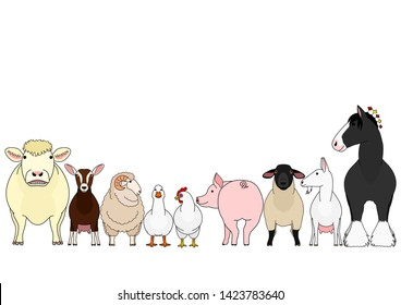 Group Farm Animals Images, Stock Photos & Vectors | Shutterstock