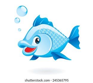 Cute cartoon fish.